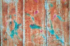Abstrakt begrepp korroderade rostigt konstnärligt för färgrikt grungebakgrundsjärn Arkivfoton