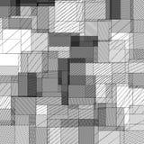 Abstrakt begrepp kvadrerad modell Royaltyfri Bild