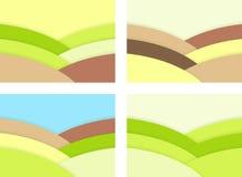 Abstrakt begrepp landskap från mosaik royaltyfri illustrationer