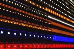 abstrakt begrepp ljus, teknologi, svart, digitalt som ledas, radio, blått, design, internet, färg, textur, film, musik, disko, da arkivbild