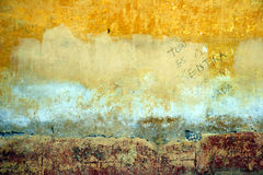 abstrakt begrepp målad vägg Arkivbilder