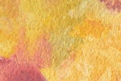 Abstrakt begrepp målad vattenfärgbakgrund på pappers- textur Royaltyfri Foto