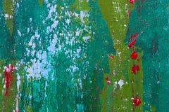 Abstrakt begrepp målad wood målning med färgstänk Royaltyfri Fotografi