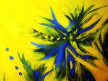 abstrakt begrepp målade vattenfärger Arkivbild