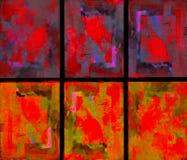 Abstrakt begrepp målar Splattersamlingen Arkivbild
