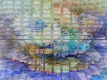 Abstrakt begrepp målning bild textur texturerat unikhet stock illustrationer