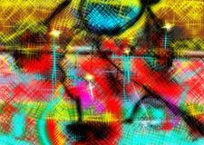 Abstrakt begrepp målning bild textur texturerat unikhet Arkivfoto