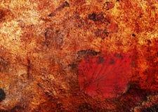 Abstrakt begrepp målning-dolt blad arkivbild