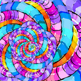 Abstrakt begrepp mönstrar färgrik krullning. Royaltyfria Bilder