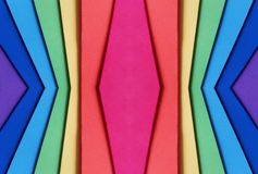 abstrakt begrepp med utklipp av skummande i regnbågefärger, bakgrund och textur Arkivfoto