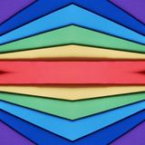 abstrakt begrepp med utklipp av skummande i regnbågefärger, bakgrund och textur Royaltyfria Foton