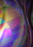 Abstrakt begrepp nyanserad bakgrund som samlas från regnbågefyrkanter Arkivfoto