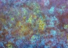 Abstrakt begrepp och färgrik metalltextur Arkivbilder