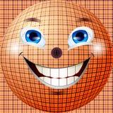Abstrakt begrepp och gladlynt boll med texturen av fab Royaltyfri Bild
