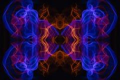 Abstrakt begrepp och symmetrisk textur royaltyfri illustrationer