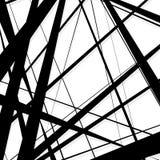Abstrakt begrepp ojämna linjer modell, bakgrund Monokrom geomet stock illustrationer