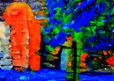 Abstrakt begrepp på exponeringsglas i baksida Royaltyfria Foton