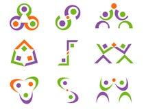 abstrakt begrepp planlägger logovektorn Royaltyfri Fotografi