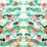 Abstrakt begrepp plaskade och plaskade splotches av färgrik gräsplan och apelsinen royaltyfri fotografi