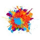 Abstrakt begrepp plaskar färgbakgrund illustration D stock illustrationer