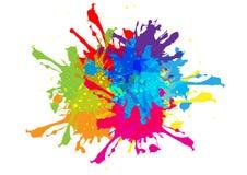 Abstrakt begrepp plaskar färgdesign illustrationfärg Arkivfoto