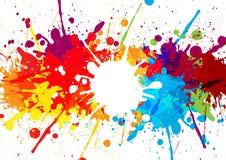 Abstrakt begrepp plaskar mång- färgbakgrund illustration de stock illustrationer