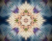 Abstrakt begrepp pressad ut illustration för mandala 3D Arkivfoto