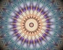 Abstrakt begrepp pressad ut illustration för mandala 3D Royaltyfria Bilder