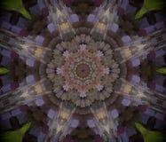Abstrakt begrepp pressad ut illustration för mandala 3D Royaltyfri Bild