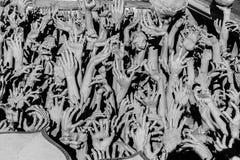 Abstrakt begrepp räcker statyn Fotografering för Bildbyråer