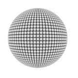 abstrakt begrepp räknade pimplespheren Arkivfoton