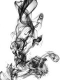 Abstrakt begrepp röker på vitbakgrund Royaltyfria Foton