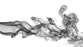 Abstrakt begrepp röker på vitbakgrund Arkivbilder