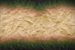 Abstrakt begrepp rynkad pappers- modell i gränser Royaltyfri Bild