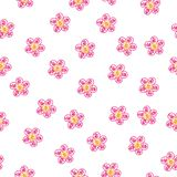 Abstrakt begrepp sömlös eps10 för vektor för utdragen färgrik blomma för hand dekorativt stock illustrationer
