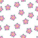 Abstrakt begrepp s?ml?s eps10 f?r vektor f?r utdragen f?rgrik blomma f?r hand dekorativt vektor illustrationer