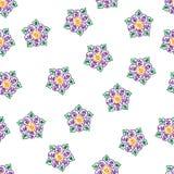 Abstrakt begrepp s?ml?s eps10 f?r vektor f?r utdragen f?rgrik blomma f?r hand dekorativt royaltyfri illustrationer