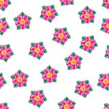 Abstrakt begrepp s?ml?s eps10 f?r vektor f?r utdragen f?rgrik blomma f?r hand dekorativt stock illustrationer