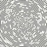 Abstrakt begrepp segmenterad geometrisk cirkelform Radiella koncentriska cirklar cirklar Swirly koncentriska segmenterade cirklar royaltyfri illustrationer