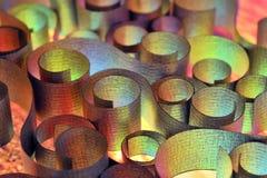 abstrakt begrepp shapes stål Arkivfoto
