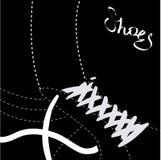 Abstrakt begrepp shoes bakgrund - vektorillustration royaltyfri illustrationer