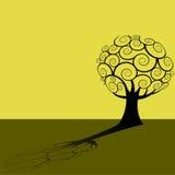 abstrakt begrepp silhouetted treen Arkivfoto