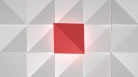 Abstrakt begrepp skära i tärningar vit Red Royaltyfri Bild