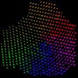Abstrakt begrepp som är färgrikt av alfabetet - bakgrund Royaltyfri Foto