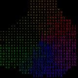 Abstrakt begrepp som är färgrikt av alfabetet - bakgrund Arkivfoton