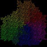 Abstrakt begrepp som är färgrikt av nummer - bakgrund Royaltyfri Fotografi