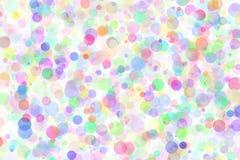 Abstrakt begrepp som är flerfärgat med kaotiska cirklar arkivbild
