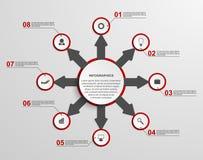 Abstrakt begrepp som är infographic med pilar vektor för bild för designelementillustration Royaltyfri Fotografi