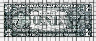 Abstrakt begrepp som är mattt från en dollarsedel Arkivfoto