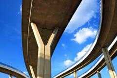Abstrakt begrepp som är strukturellt av bron Royaltyfria Bilder